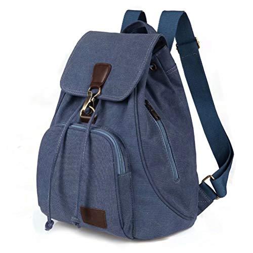 Mochilas Lona Mujer Ligero Casual Vintage Backpack