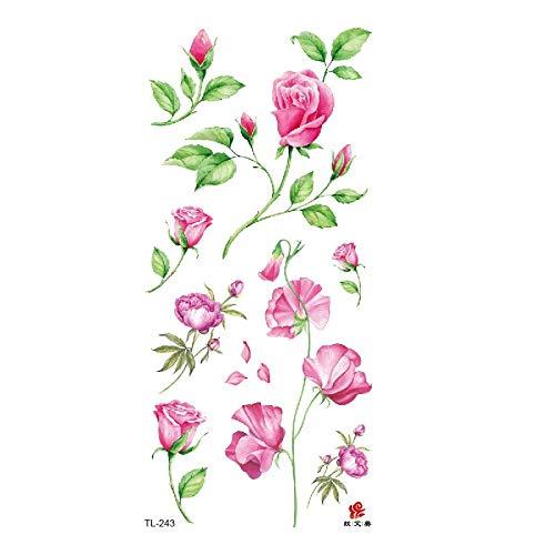 Amy TL Wasserdichte Tattoo Aufkleber Spot Traumfänger Vogel Blume Vanilla Deer Feder 3Pcs-32 90 * 190 MM (Deer Family Auto-aufkleber)