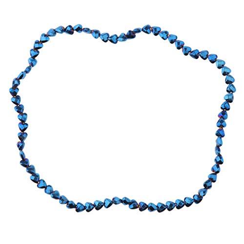 F Fityle Chaîne de Perles Assortiments Fabrication de Bijoux Bracelet Collier - Bleu