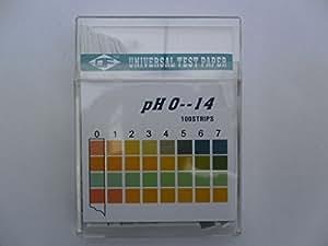 Lot de 100bandes d'essai pH neuf PH Papier indicateur Aquarium Bandes de test pH