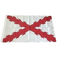 Gemelolandia Flag of the Cross of San Andres aspa of Burgundy 90x 150cm