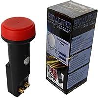 HD-LINE - Convertitore LNB Twin, colore: nero, 62 Db 0,1db, con 2 uscite prezzi su tvhomecinemaprezzi.eu