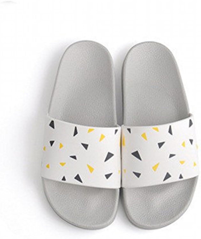 DIDIDD Sandalias de Pareja de Moda Simple Zapatillas de Baño de Verano Casa Slip Slippers de Hombre,Segundo,39