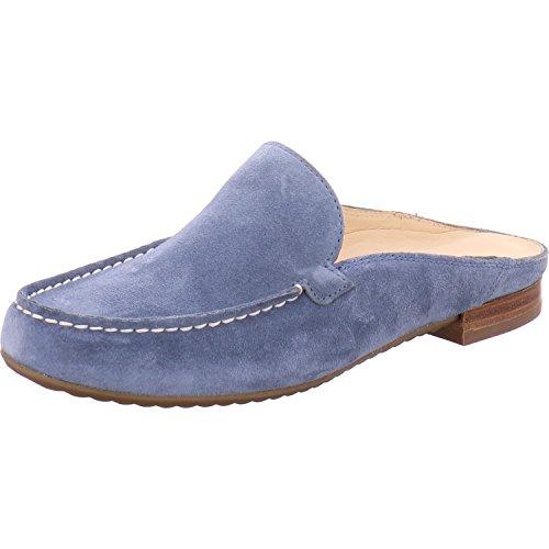 Paul Green Damen Pantoletten 6044-029- Damenschuhe Pantolette/Zehentrenner, Blau, Leder (royal Suede), absatzhöhe: 10 mm blau 261302