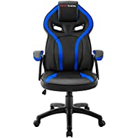 Mars Gaming MGC118 - Silla gaming profesional con ruedas (inclinación y altura regulables, reposacabezas