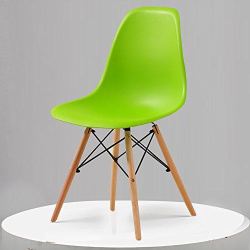 Teng Peng Chair - - Fauteuil minimaliste moderne, salon, bureau, salle à manger, banquette arrière confortable (taille 82.5X40X40 cm) produits menagers (Couleur : Green)