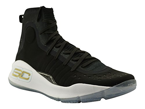 Under Armour Chaussures Basket Homme Curry 4 Mid, Art. 1298306 401, Bleu Royal, Tomaia en Knit, Collection Fw17 bianco