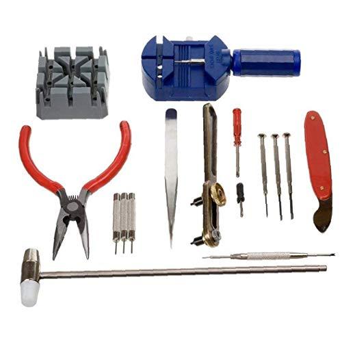 16 PC-Uhr-Reparatursatz, L Uhrbatterien Replacement Tool Link Entferner Deluxe-Uhrenarmband-Werkzeug-Set Für Die Reparatur Von Quarz-Mechanische Armbanduhr