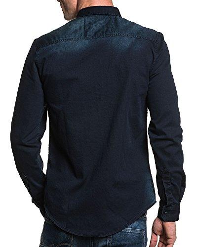 BLZ jeans - Chemise en jean bleu délavé homme Bleu