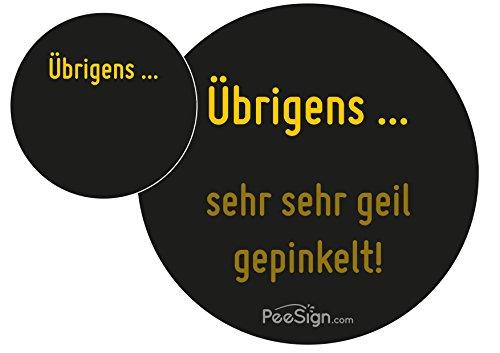 PEESIGN Effekt Aufkleber Sticker Urinal GEIL GEPINKELT Urinal Spiel
