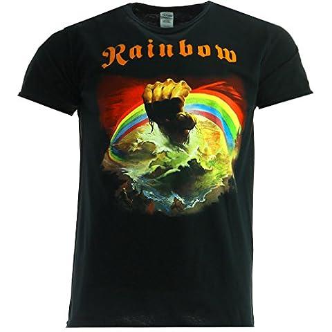 Rainbow Rising Schwarz T-shirt Offiziell Zugelassen Musik