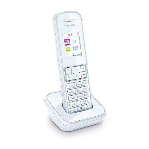 Telekom Sinus 406 Erweiterungspack (1x Mobilteil Sinus 406, 1x Ladeschale mit Steckernetzgerät) perlweiß
