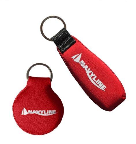 Navyline Neopren Schlüsselanhänger, Farbe:rot, Ausführung:rund
