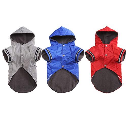 PowerBH Pet Hunde Zwei Beine Kostüm Mit Kaschmir Innen Für Regen Tage Welpen Winddicht Und Wasserdicht Regenmantel Blau ()