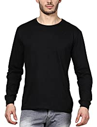 INKOVY Men's Cotton Roundneck Neck Full Sleeve T-Shirt
