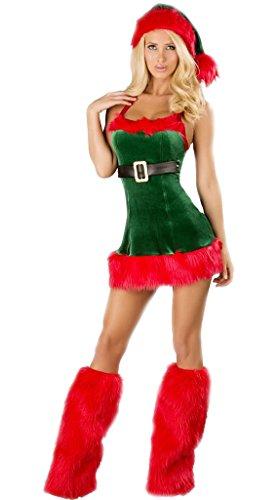 Kostüm Santa Unterschiedliche - Unbekannt MissFox Frauen Weihnachts Leistung Kleid Santa Kostüm Mit Cape Wie Das Bild