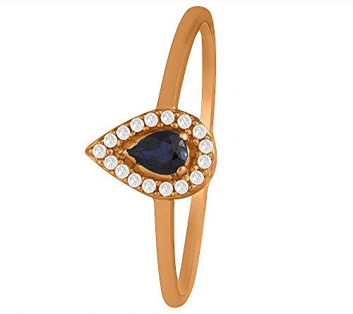 Sparkles 0.05CTS diamanti e 0.25carati ametista anello in oro rosa 9kt (GH color, purezza si)