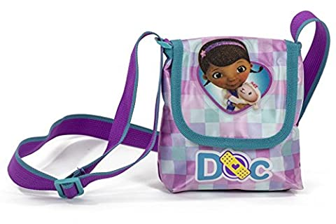 Disney Junior Doc McStuffins And Lambie Pink and Purple Small Kids Lapel Girls Shoulder Bag
