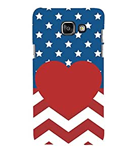PrintVisa Stripes with Stars 3D Hard Polycarbonate Designer Back Case Cover for Samsung Galaxy On5 (2016) Launching Model