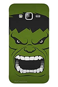 MiiCreations 3D Printed Back Cover for Samsung Galaxy J3,Hulk