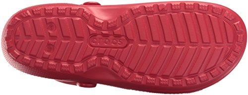 Crocs Classic Lined Clog, Sabots Mixte Adulte Rouge (Pepper/Oatmeal)