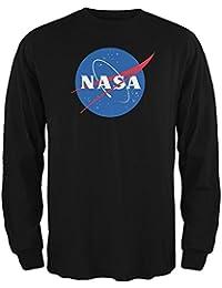 NASA Logo Black Adult Long Sleeve T-Shirt