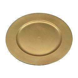 Argon Tableware Runde Platzteller - Goldfarben - 330 mm - 6 Stück