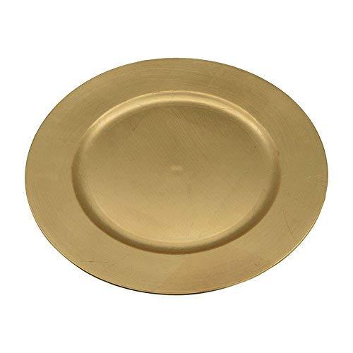 Sous-assiettes rondes - doré - 330 mm - lot de 6