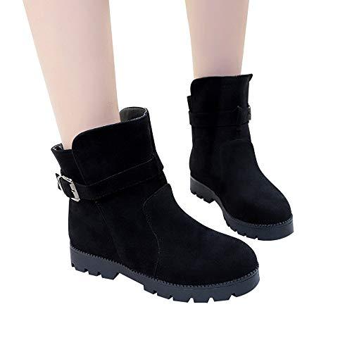 Preisvergleich Produktbild TianWlio Stiefel Frauen Winter Warm Schuhe Stiefeletten Boots Halten Schlüpfen Schneestiefel Weihnachten Frauen Flache Schuhe Schneestiefel Wildleder Schnalle Stiefel Runde Kappe Halten Warme Schuhe