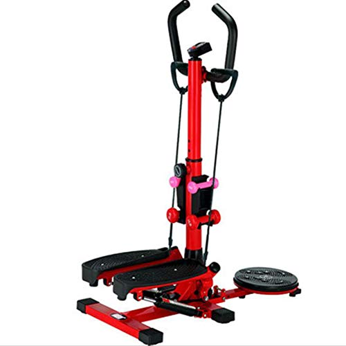 LQTBJ Professionelle Heimtrainer Stepper Walking Body Sculpting SchöNe FitnessgeräT Max 100 Kg Side Stepper Mini Stepper Griff Gesundheit Fitness Step Machine Und LCD-Monitor