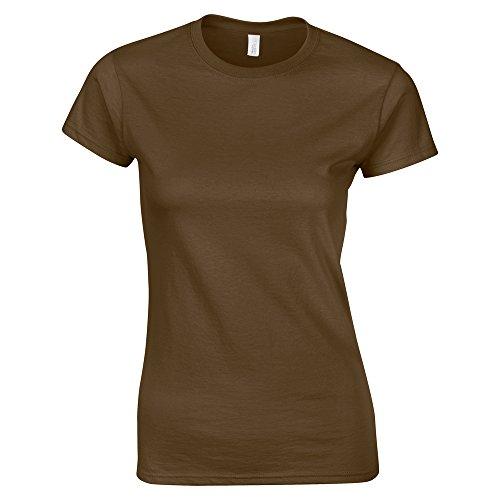 "Gildan Softstyle""�?womens ringspun t-shirt Dark Chocolate"