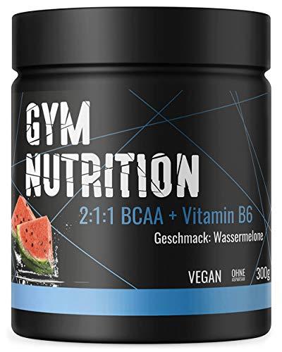 BCAA PULVER + VITAMIN B6 - Höchste Dosierung der Amino-Säuren Leucin, Isoleucin und Valin im Verhältnis 2:1:1 - Vegan und hochdosiert - WASSERMELONE