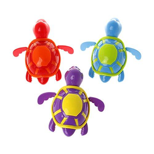 ZOUCY Schildkröte Bildung Spielzeug, Nette Schwimmen Schildkröte Schildkröte Pool Spielzeug für Baby Kinder Kinder Bad Badewanne Zeit - Farbe Nach dem Zufallsprinzip - Badewanne-zeit