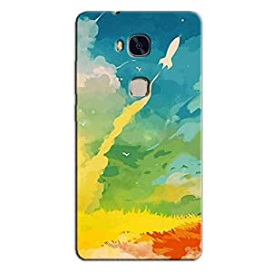 ABSTRACT MULTICOLORED BACK COVER FOR HONOR 5X