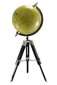 Globe sol sur un trépied en bois Homme-Globe Collection Globe terrestre Vintage Style Antique