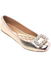 outlet store 46716 7a9cd Gtagain Ballerine Classiche Ballerina - Donna Piatto Pompe Punta Quadrata  Strass Comfort Casual Mocassini da Sera