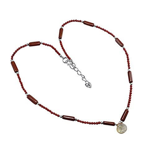 Silvestoo India Jasper, Coral & Quartz Necklace PG-124939