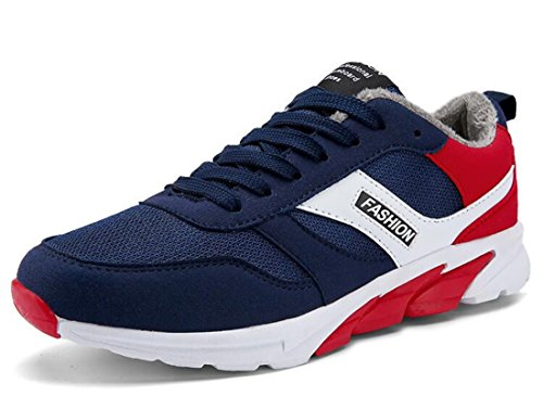 Men's Teenage Breathable Athletic Running Shoes Warm navy red