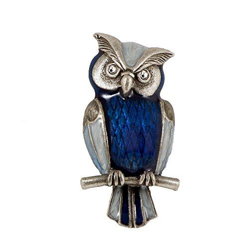 ba bijou-art Brosche Eule blau