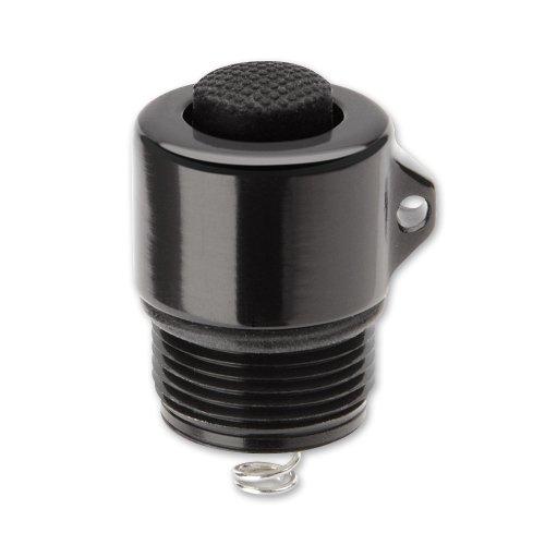LiteXpress Endkappenschalter, schwarz, für AA Lampen Messer, Aluminium, Grau, M -