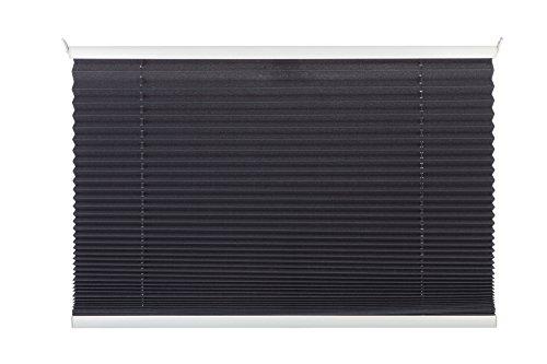 mydecou00ae 100x130 cm [BxH] in grau - Plissee Jalousie ohne bohren, Rollo für innen incl. Klemmträger (Klemmfix) - Sonnenschutz, Sichtschutz für Fenster