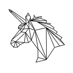 bobury geometrisches einhorn wand aufkleber entfernbares. Black Bedroom Furniture Sets. Home Design Ideas