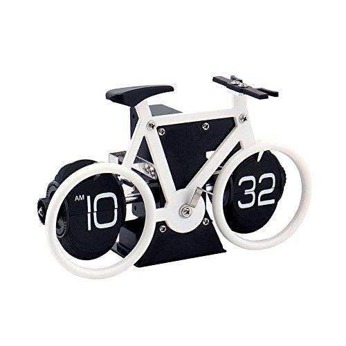 KABB Retr Tischuhr Flip Clock Uhr für Zuhause Büro Gesellschaft Geschenkidee Batteriebetrieben mit Innenzahnrad (Weiß)