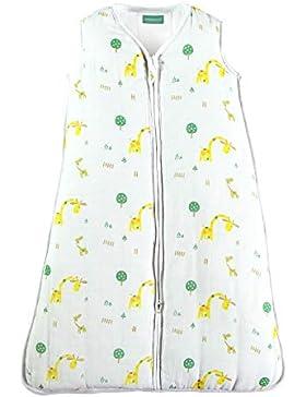molis&co. Babyschlafsack aus Premium-Musselin mit Futter. Superweich. TOG 2.5. Ideal für die Übergangszeit und...