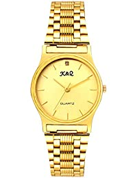 K&Q GOLDEN AND YELLOW WATCH ANALOG WRIST WATCH FOR MEN & BOYS
