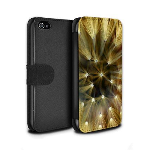 Stuff4 Coque/Etui/Housse Cuir PU Case/Cover pour Apple iPhone 4/4S / Multipack Design / Couleur/Lumière Fleur Collection Jaune