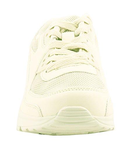 Sneakers beige per unisex Elara SZd3aU