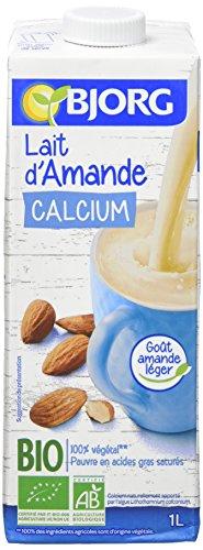 Bjorg Lait d'Amande Calcium Bio 1 L - Lot de 6