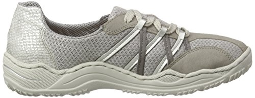 Rieker L0511 Women Low-top, Baskets Basses femme Gris - Grau (vapor/fog/shark/silver/ice / 40)