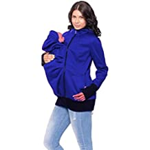 8ccb500f9 Zhongke Baby Carrier Hoodie Jacket Maternity Sweatshirt Kangaroo Pocket  Coat Jacket para bebé Embarazada usando Baby